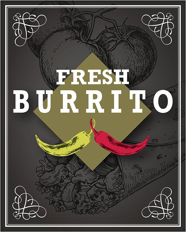 Schild Fresh Burrito